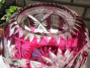 Saint louis boules fleurs cristal