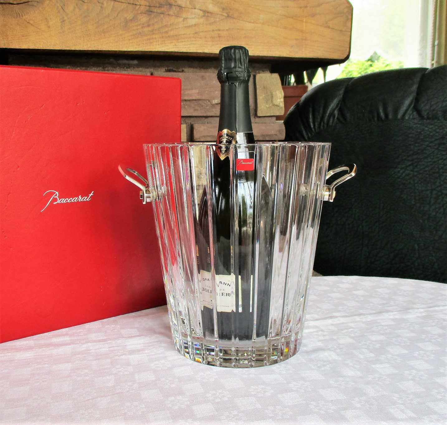 Seau à champagne Harmonie, cristal de Baccarat
