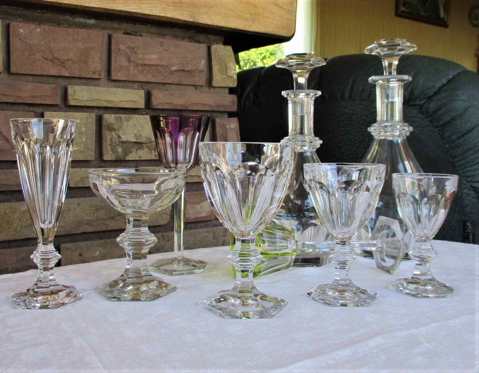 Service de verres Harcourt 1841. Cristal de Baccarat