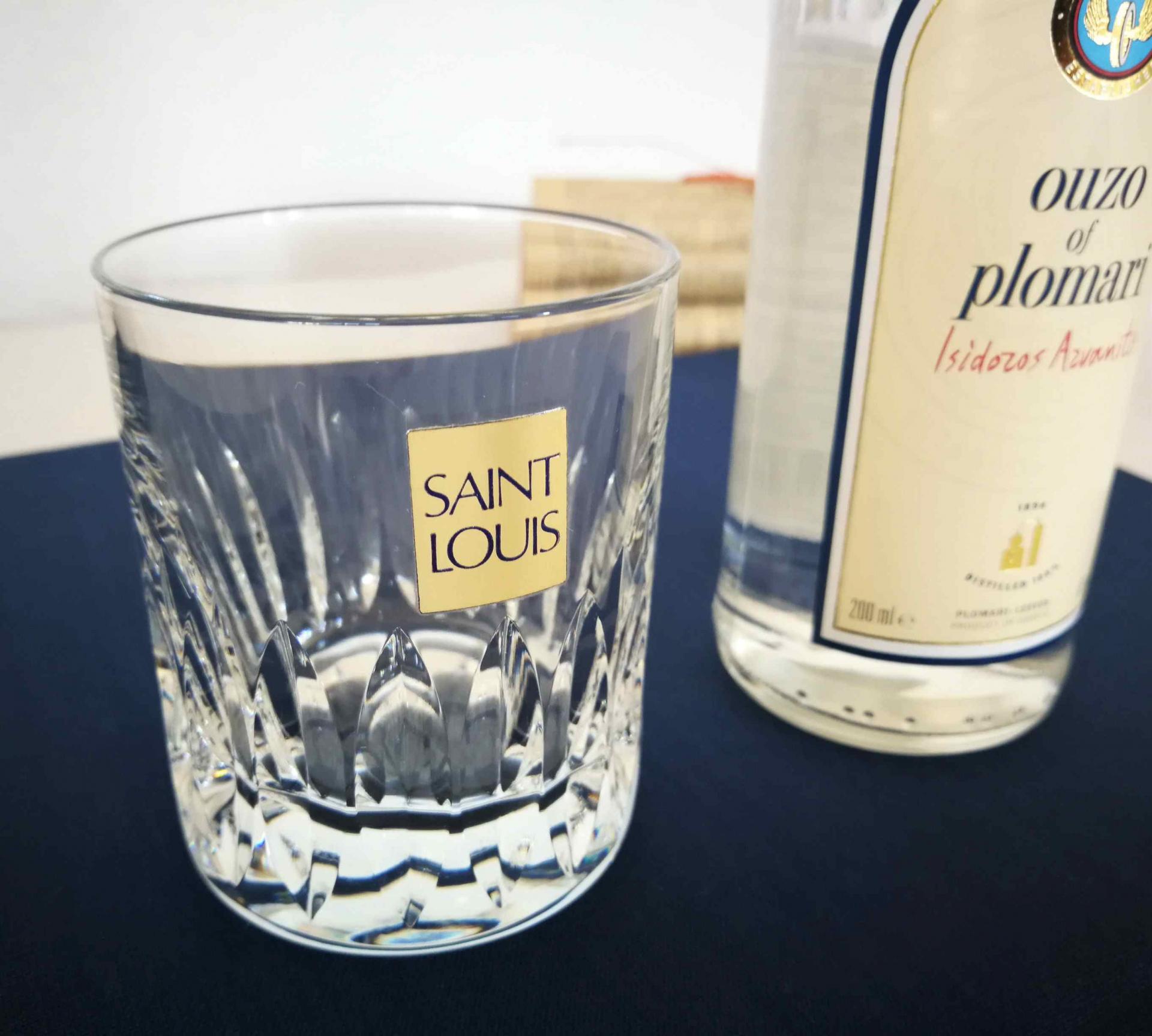 Gobelet en cristal Saint Louis. Marine