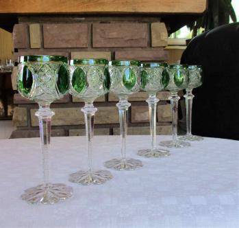 Service de verres u cristal de baccarat