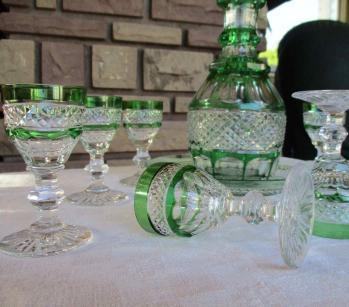 Service liqueur ancien cristal