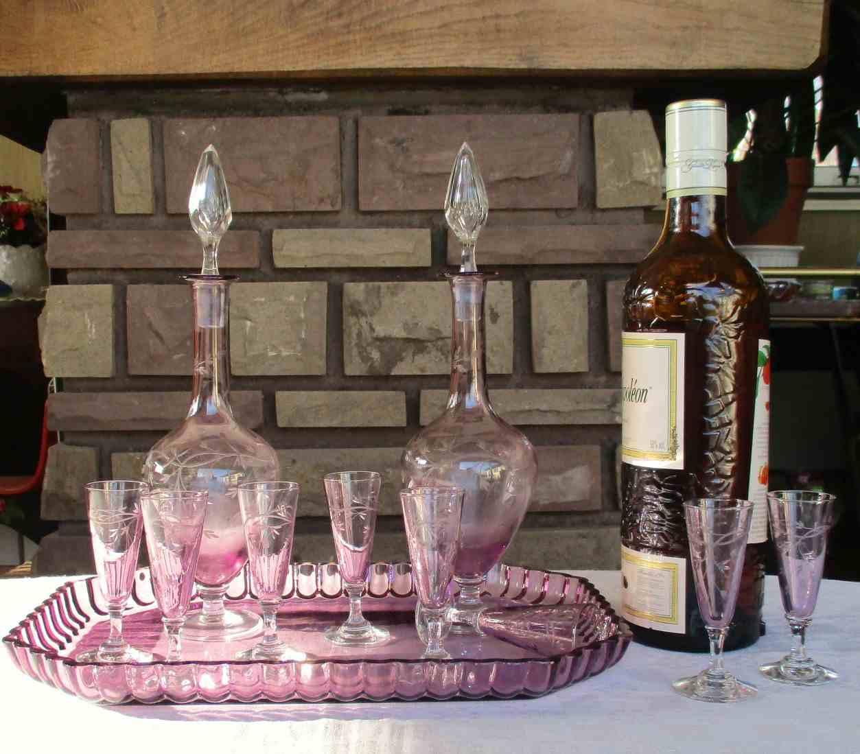Verres En Cristal De Saint Louis Service Mousseline Ambr