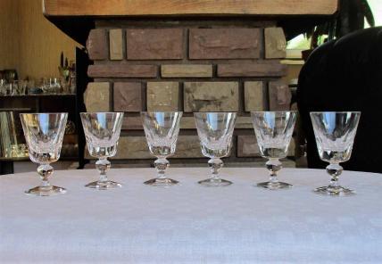 Service saint louis jersey verres a vin