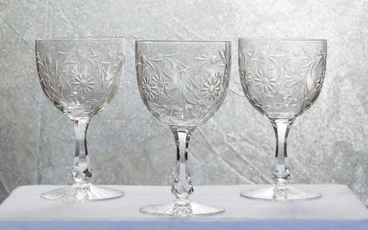 verres en cristal baccarat service maintenon