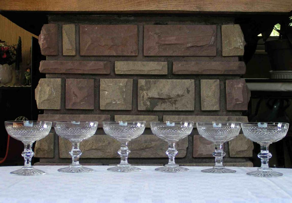 Verres en cristal saint louis service trianon - Verre saint louis prix ...
