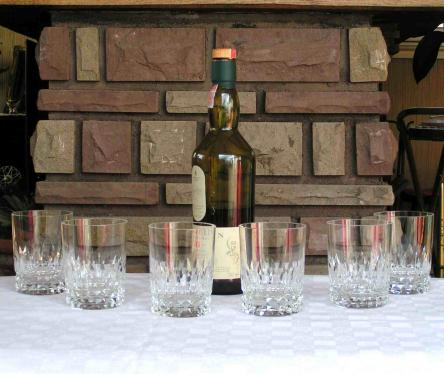 Service verre whiskly cristal baccarat