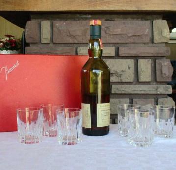 Service whisky cristal rotary