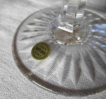 Signature st louis etiquette cristal