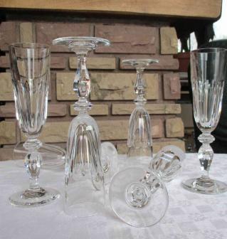 St louis cristal flutes champagne