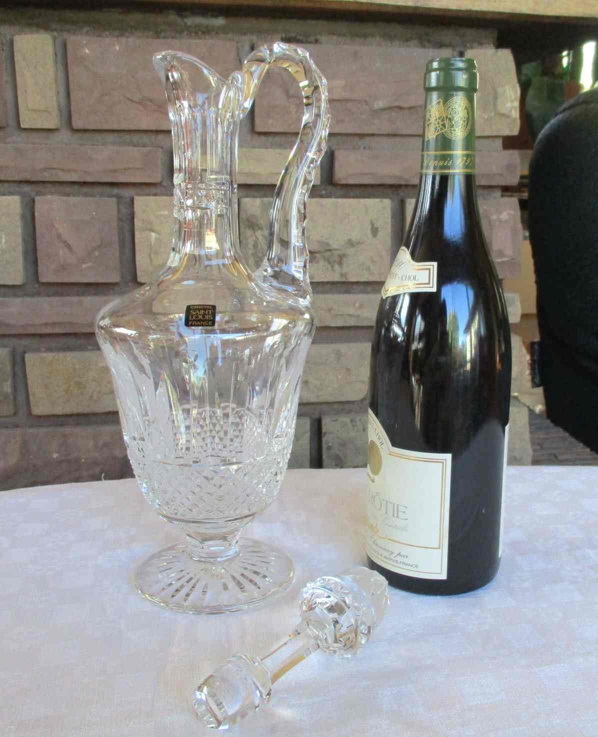 Aiguière à vin cristal de Saint Louis. Tommy