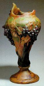 Vase aux raisins daum