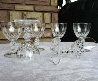 Verre bordeaux cristal saint louis occasion