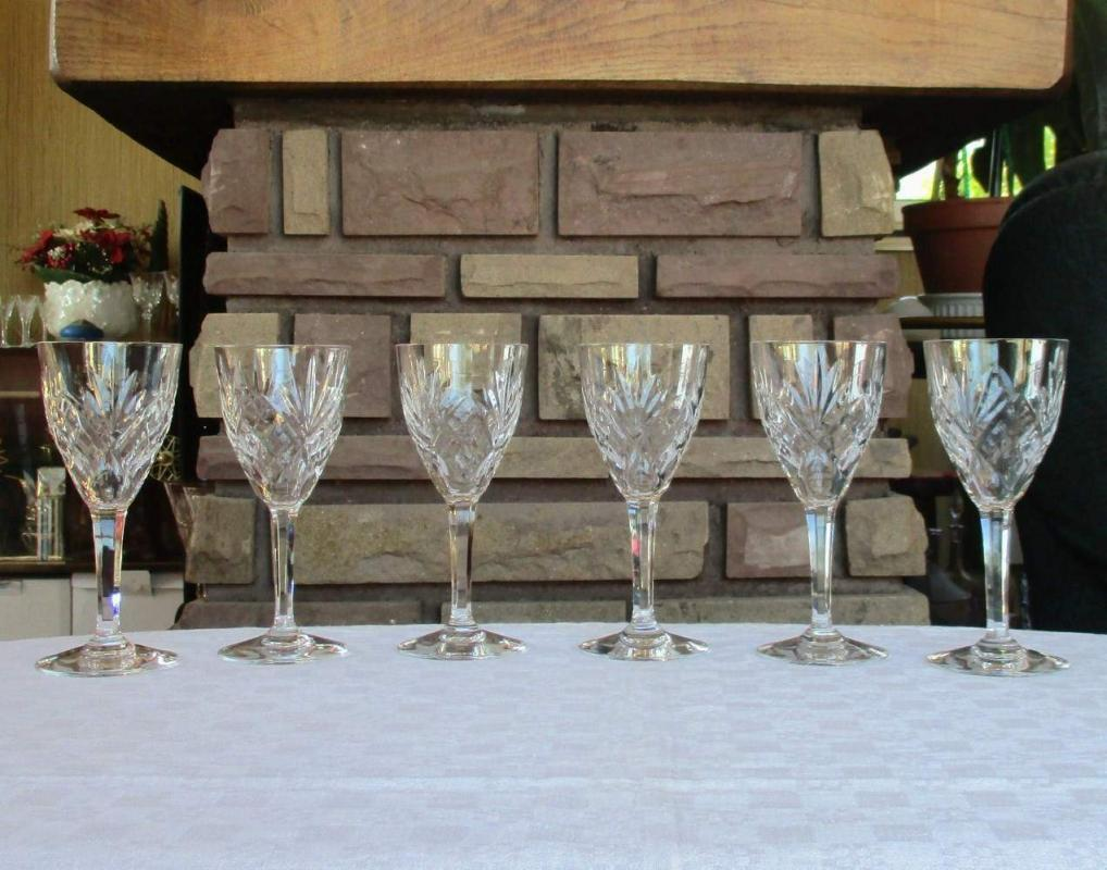 Verres En Cristal De Saint Louis Service Chantilly