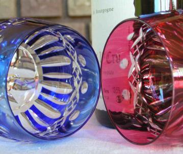 verre couleur overlay double st louis