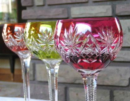 Verre cristal couleur st louis rose