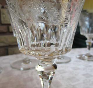 Verre eau baccarat