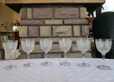 Verre vin baccarat