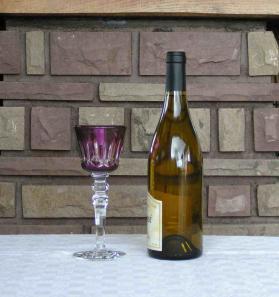 Verre vin ile france baccarat
