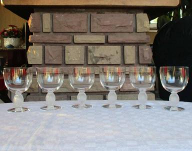 Verre vin langeais lalique