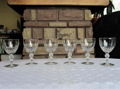 Verre vin saint louis orly cristal