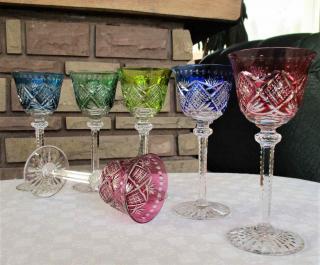 Verres a vin du rhin saint louis cristal occasion
