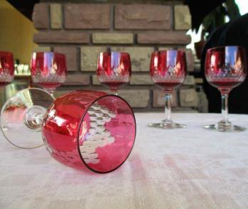 Verres baccarat rose