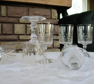 Verres champigny cristal