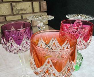 Verres couleurs cristal baccarat