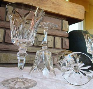 Verres eau cristal