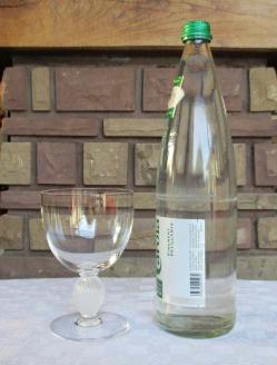 Verres eau lalique cristal