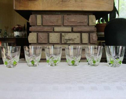 Verres floride lalique cristal