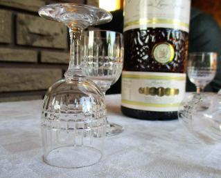 Verres liqueur ancien cristal 1