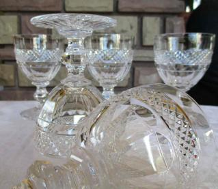 Verres modele trianon st louis cristal