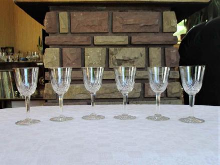 Verres porto anciens cristal