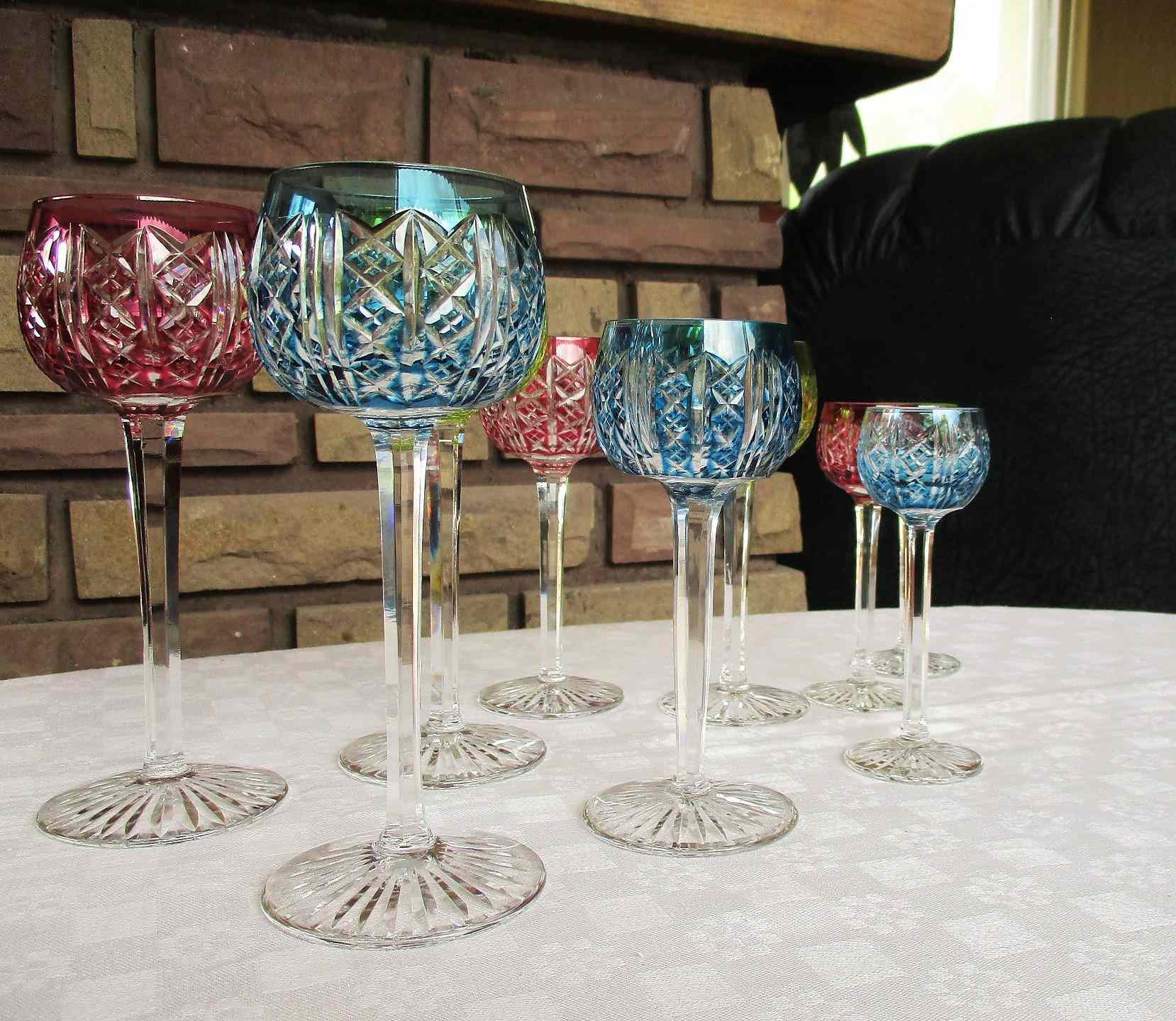 Riesling, Cadix, Prunelle. Cristallerie Saint Louis