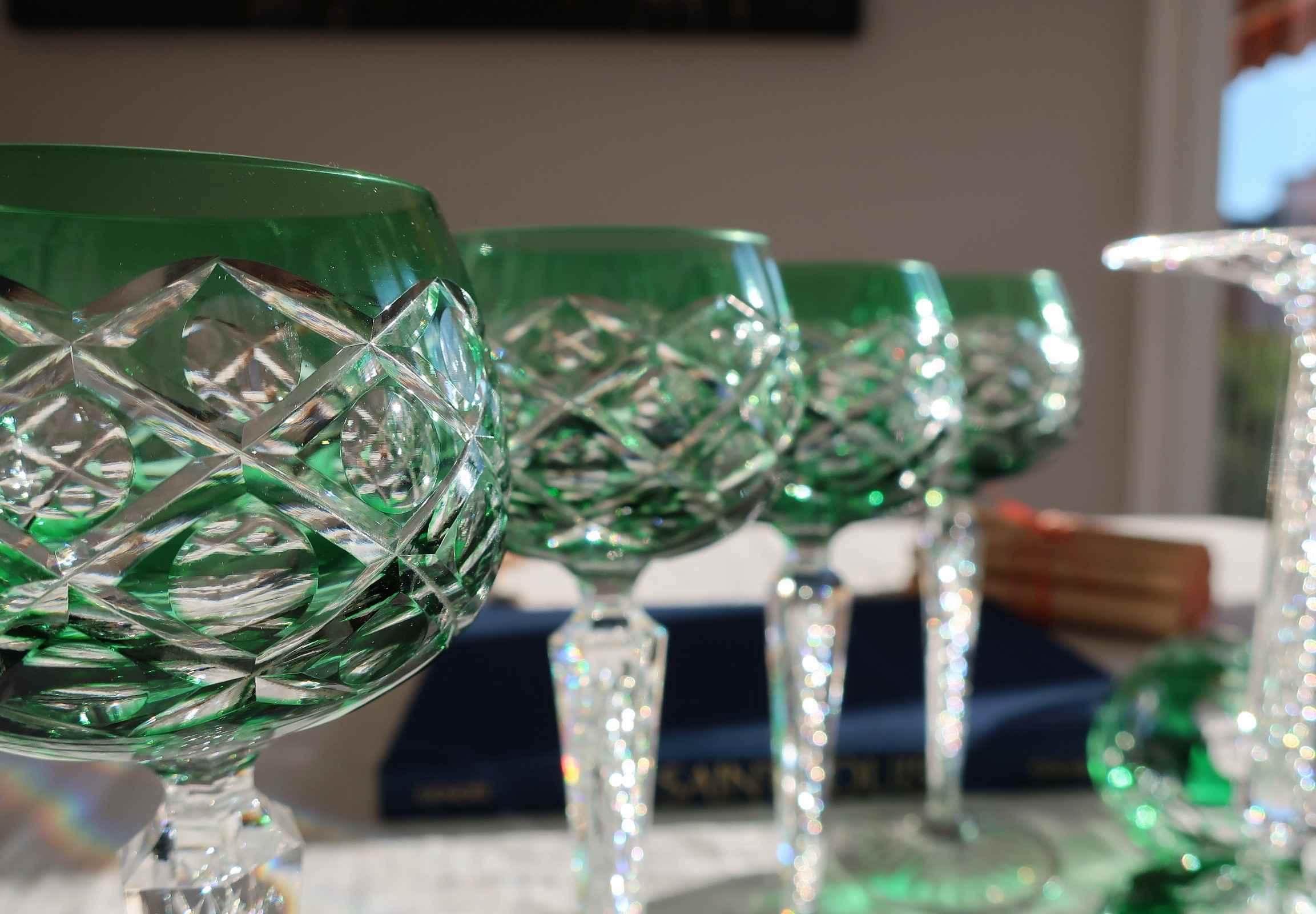 cristal Saint Louis-couleurs-verres-anciens
