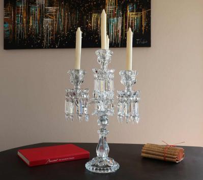 4 feux cristal baccarat candelabre