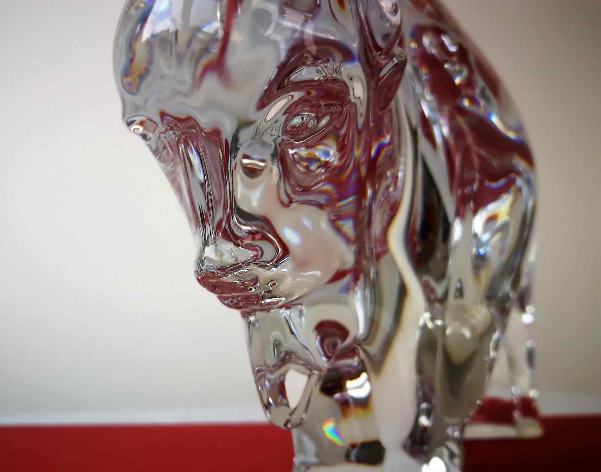 Animal, Bison en cristal Baccarat