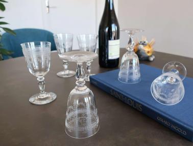 Art de la table cristal service verres