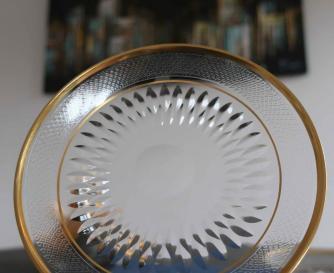 Assiette plateau de bol cristal