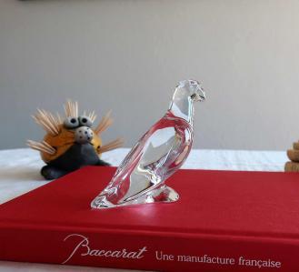 Baccarat cristal clair perroquet