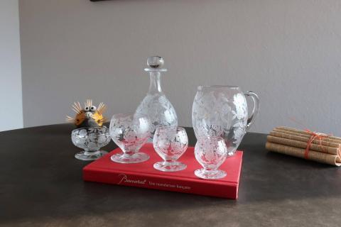 Baccarat fontenay coupe verres carafe broc