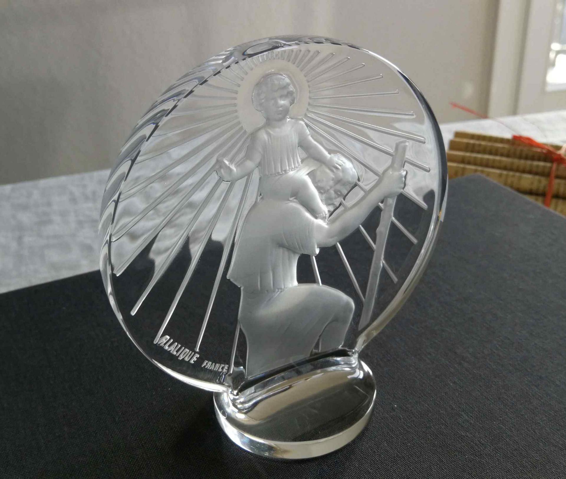 Saint-Christophe, mascotte. Lalique