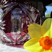 Boule fleurs cristal st louis
