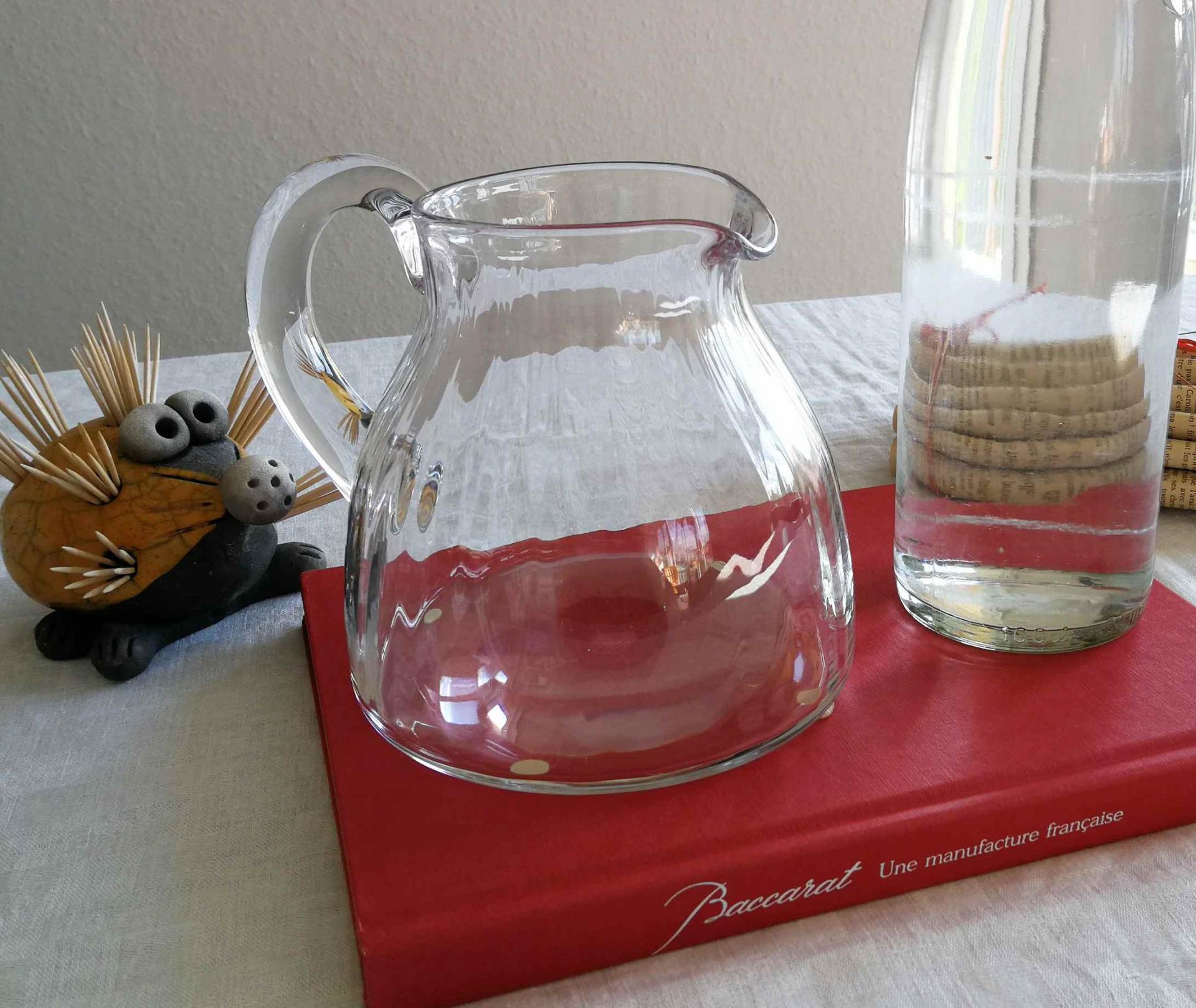 Broc à eau cristal Baccarat. Service Flore