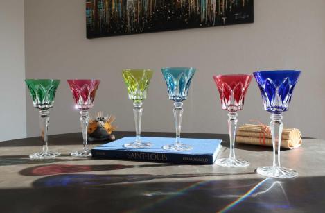Camargue verres roemers saint louis cristal