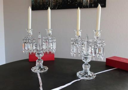 Candelabres baccarat ancien cristal