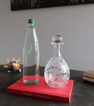 Carafe cristal ancien art deco baccarat