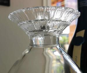 Carafe fleur lalique verre blanc
